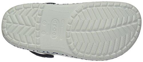 Crocs Mule Womens Crocband Navy Oyster Womens Print Clog Crocs Mesh TZZr40dW