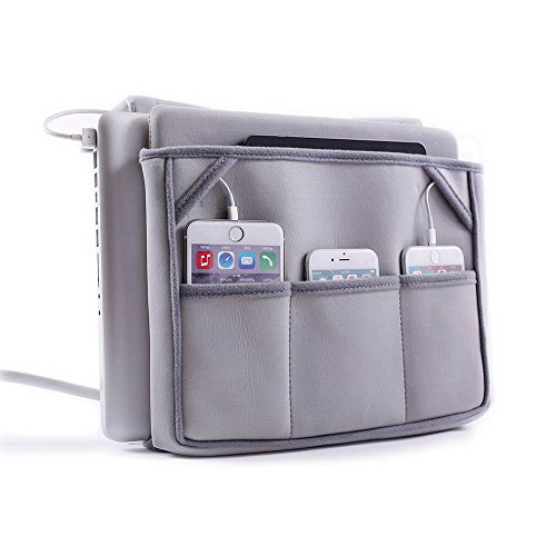 Great Useful Stuff G.U.S. Bedside Charging Caddy Organizer and Butler for Laptops, Readers, Phones, and Books and T.V. Remotes
