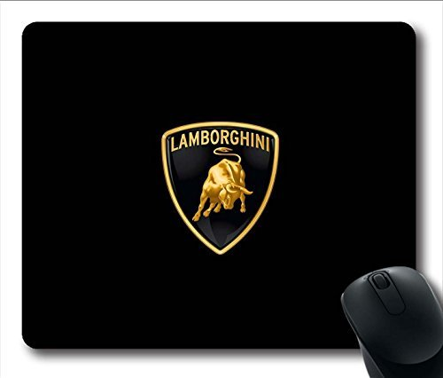 AKIKO Gaming Mouse Pad, Lamborghini Logo Personalized MousePads Natural Eco Rubber Durable Design Computer Desk Stationery Accessories Gifts For Mouse Pads by Art Mouse Pad