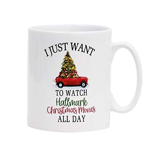Christmas Mugs Christmas Tree and Car Coffee Mug This IS MY HALLMARK Christmas movie WATCHING MUG Coffee Mugs for Christmas Gift Brithday Gift or Daily Use