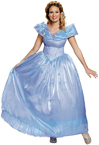 Disney Princesses Costumes Adults (Disney Women's Cinderella Movie Ultra Prestige Adult Costume, Blue, Small)