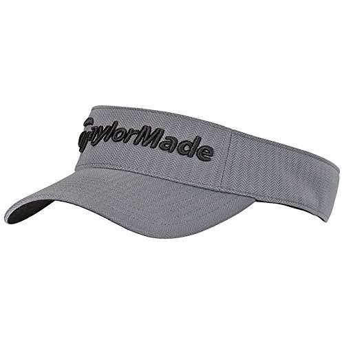 - TaylorMade 2017 Tour Radar Performance Mens Golf Visor-Adjustable Grey