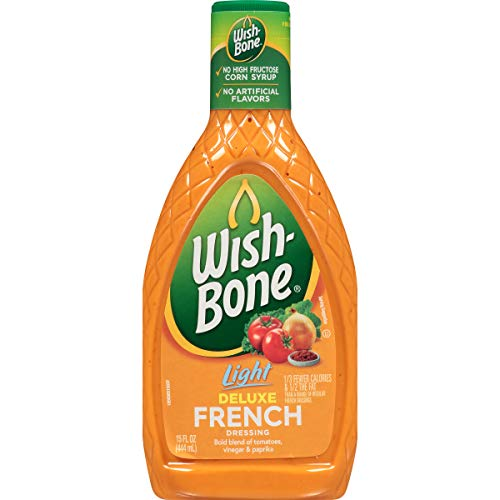 Wish-Bone Salad Dressing, Light Deluxe French, 15 Ounce