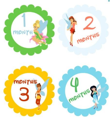 monthly stickers baby month stickers baby girl monthly stickers