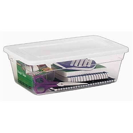 Amazon.com: rhp2217whi – Rubbermaid roughtote transparente ...