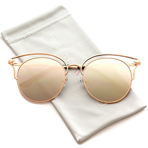WearMe Pro - Fashion Designer Frame Round Cat Eye Sunglasses for Women