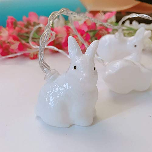 White Outdoor Garden String Lights Fairy Lights Waterproof Garden Wedding Easter Net Red Rabbit Battery Light 3 Meters 20 Light Battery