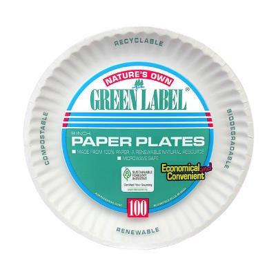 (100 Per Container) 9\u0026quot; Uncoated Paper Plate ...  sc 1 st  Amazon.com & Amazon.com: (100 Per Container) 9\