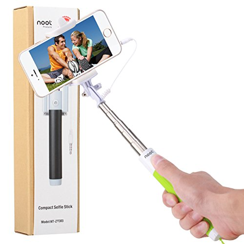 Compact Selfie Stick, NOOT PRODUCTS® Compact Series [Battery Free] Foldable Portable [Pocket Size] Self-Portrait...