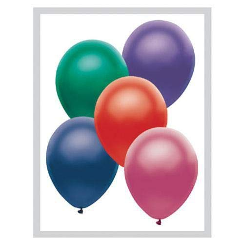 PartyMate Balloons Latex Balloons 076531 Metallic Satin Assortment 12 Multicolor