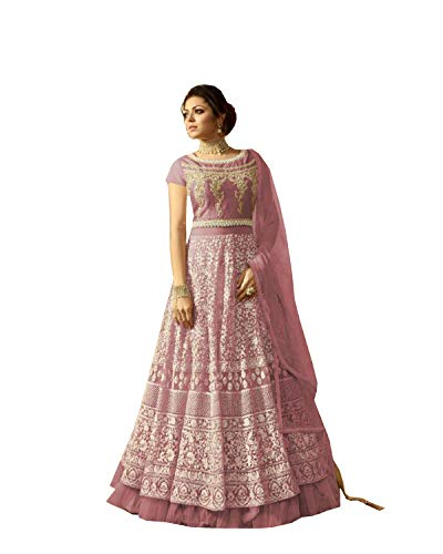 - Indian Wear Anarkali Suit Party Wear Zoya 3 (Pink, M-40)