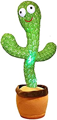 Pbooo Dancing Cactus Toy, Talking Singing Cactus Repeat and Record Your Sound (120 Pcs Songs) (Battery not Inc