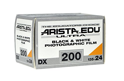 Arista EDU Ultra 200 ISO Black & White Photographic Film, 35mm, 24 exposure (Black And White Film 35mm 200)