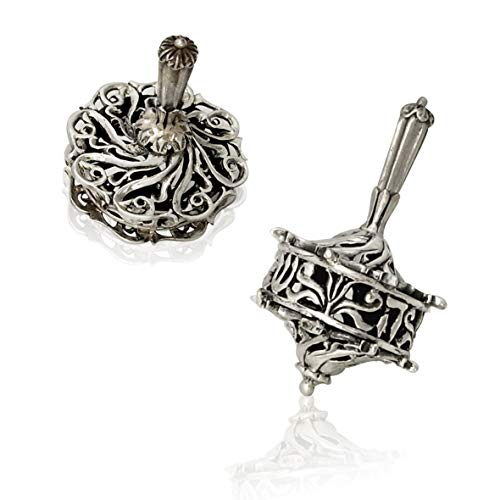 - Nadav Art Traditional Collectors Hanukkah Dreidel 925 Sterling Silver Dreidel Yemenite Filigree leaf design with Hebrew letters Dimensions: 1.5