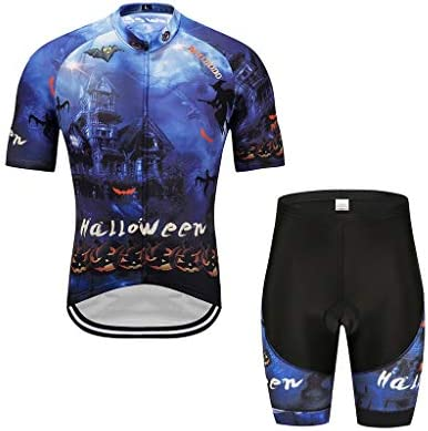Ciclismo de manga corta de Halloween para hombre y mujer azul Ropa ...