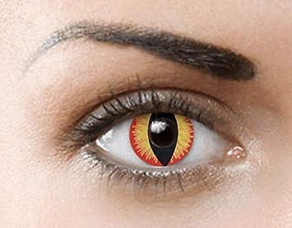 Phantasy Eyes ®Lentilles de Contact de couleur - Halloween Crazy Lens (RED  DRAGON  983953df39ca