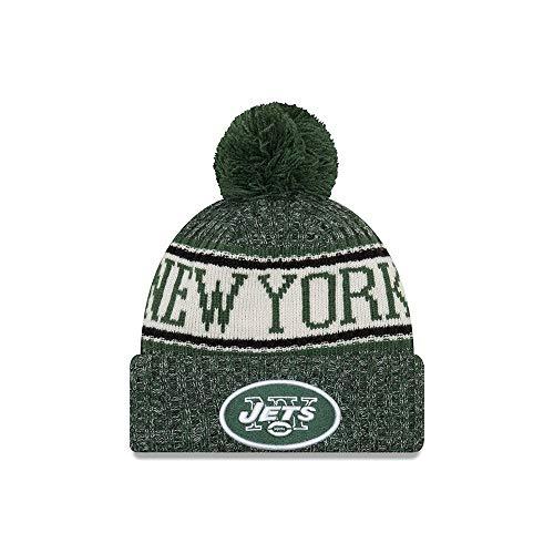 New Era NY Jets NFL 18 Sideline Sport Knit Hat Black/Green/White Size One Size