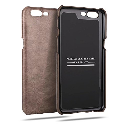Funda Para OnePlus 5, Sunrive Cuero genuino Funda Protectiva Carcasa Cuero Resistente Teléfono Funda (Negro) Marrón oscuro