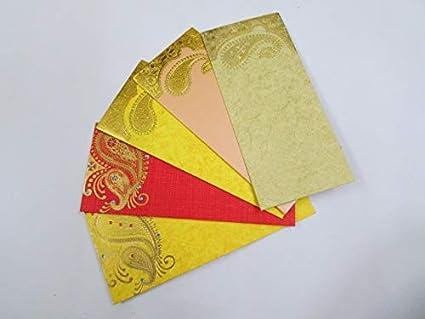 Arva Shagun - Sobres de regalo para dinero, paquete de 50 sobres ...