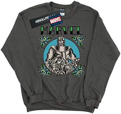 Marvel Herren Avengers Group Tattoo Sweatshirt Holzkohle Large