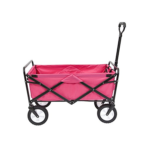 MEDA 40876 Collapsible Folding Outdoor Utility Wagon Cart (Pink)