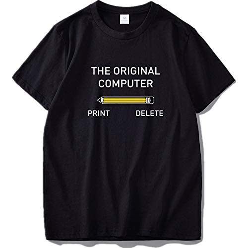 (The Original Computer Tshirt Men Geek Nerd Tee Sarcastic Adult Humor Top Black Funny T-Shirt,Black,EU Size S)