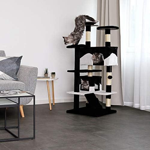 dibea Arbre à chat arbre à grimper griffoir pour chat hauteur 130 cm couleurs différentes