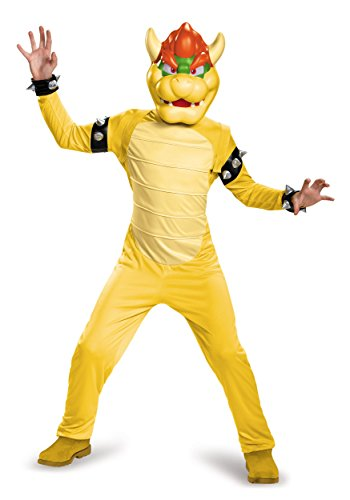 [Disguise Bowser Deluxe Costume, Large (10-12)] (Kids Mario Costumes)