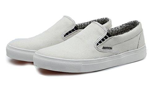Spitze Lässige Sneaker Schlüpfen Mode Weiß Leichte Segeltuch Keine Wanderschuhe Flache Stoff Damen Herren Sooneeya Laufer wU1v8gn7