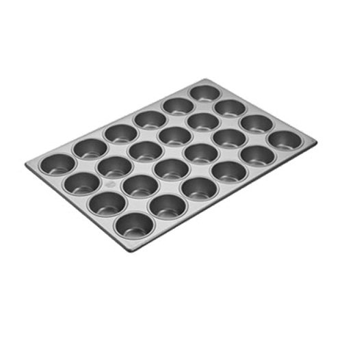 Focus Foodservice 905605 Cupcake/Muffin Pan, 4 Rows of 6, 1-3/8 inch Vertical Depth, 17-7/8 inch x 25-7/8 inch, 3.8 Oz Capacity per Cup