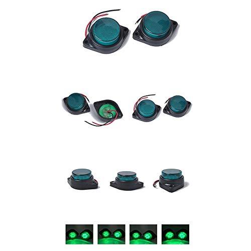 HoganeyVan Lampada di segnalazione di allarme impermeabile Spia 24V Spia 6 Lampada LED Lampeggiante Luce di sicurezza verde