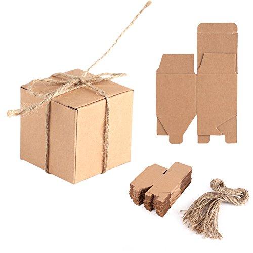 Envase de la caja de la decoración del papel de Kraft, caja del papel de Kraft de 50PCS Brown con la caja del jabón del...