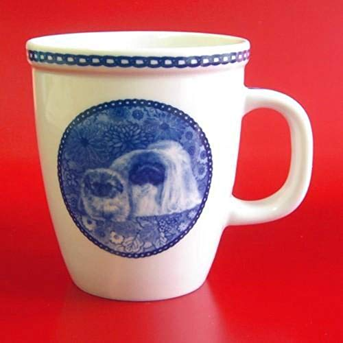 Pekingese Porcelain - Pekingese - Porcelain Mug made in Denmark Premium Quality and Design from Lekven. Perfect Gift For all Dog Lovers. Size - 4.2 inches.