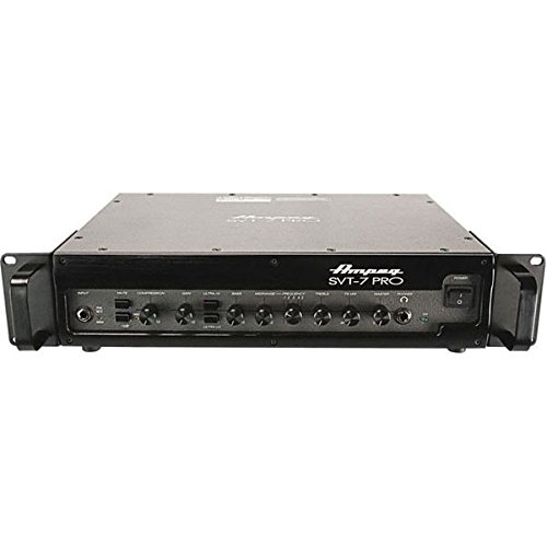 - Ampeg Pro Series SVT7PRO 1000 Watt Tube/Solid State Hybrid Class D Bass Amplifier Head