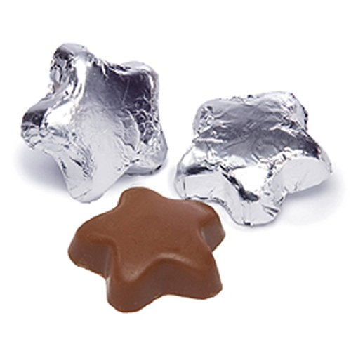 Silver Milk Chocolate Stars (1/2 Lb - Approx 22 Pcs)
