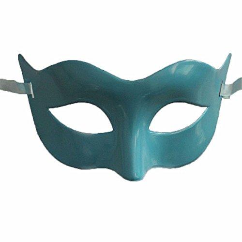 Mardi Gras Party Masquerade Mask,Halloween Men Half face mask Makeup Dance mask Blue Prom Masks -