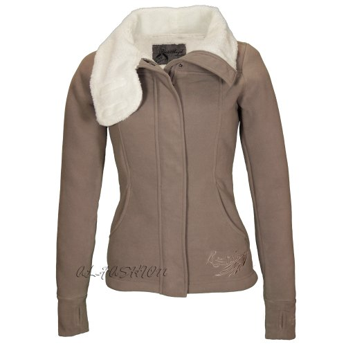 Rock Angel - Chaqueta - cuello mao - Manga Larga - para mujer Marron - Brown - truffle brown