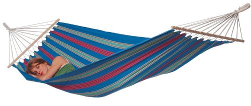 Aruba Hybrid Hammock, Single, Juniper Blue - Made of EllTex fabric UV and water-resistant Soft cotton feel - patio-furniture, patio, hammocks - 41Pu2JFYoGL -