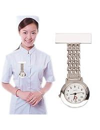 Tangyongjiao Relojes fashionalbe Reloj de Pulsera de Cuarzo Redondo de aleación de aleación portátil con Pin