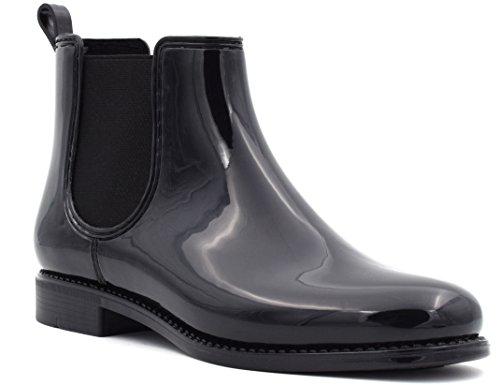 EU 41 Chaussures 36 de Noir Femme Bottes A Pluie MaxMuxun 7g0wXqv