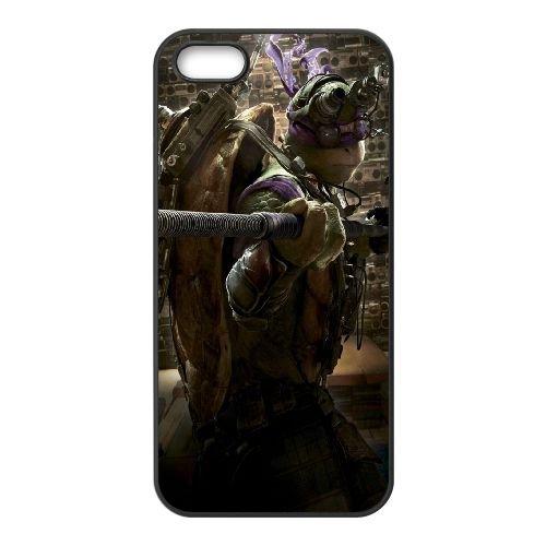 901 Ninja Turtles L coque iPhone 5 5S cellulaire cas coque de téléphone cas téléphone cellulaire noir couvercle EOKXLLNCD21154