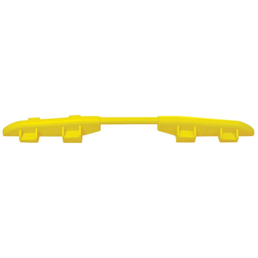 Cross-Guard CPRL-4/5-Y Polyurethane ADA Compliant Rail for Linebacker 4 and 5 Channel Heavy Duty Cable Protectors, Yellow, 2'' Length, 54'' Width, 2'' Height