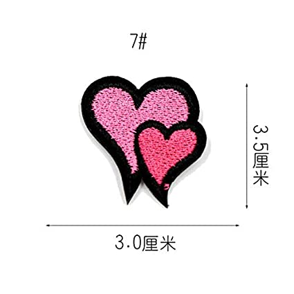 254dd8f2ae90 Virtue FastSo 1PCS Embroidery Ironing on Clothes Pink Big Patch Apparel  Accessories Patches for Clothing Fabric Badges Applique BT306-1  7   Amazon.in  Home ...
