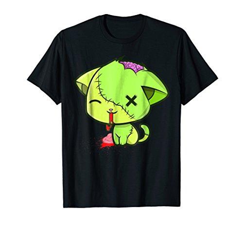 Cute Zombkitty Zombie Kitten Neon Funny Brain Cat]()