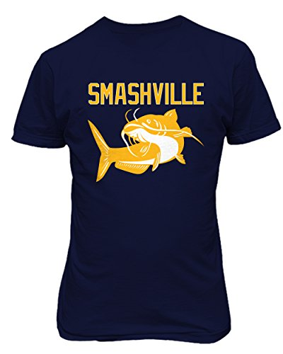 "Smashville Nashville ""Catfish"" Men's T Shirt (navy,L)"