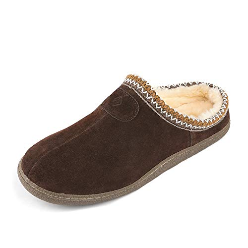 Dreams Slippers (DREAM PAIRS Men's MUFFY_01 Brown Faux Fur Slippers Loafers Flats Shoes Size 8.5-9 M US)