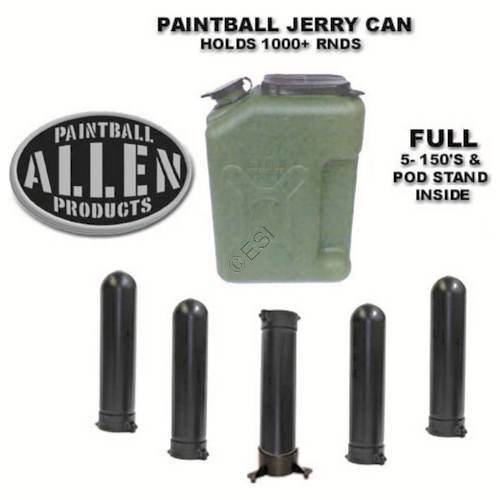 Jerry Can Paintball Canister - Pod Loader by Allen Paintball