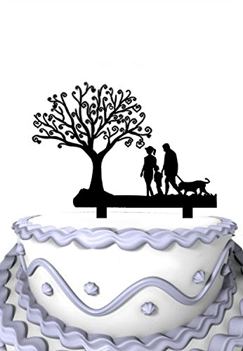 Meijiafei-Wedding-Cake-Topper-Go-Hiking-Together-for-Family-Party-Decoration