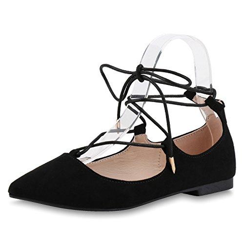 napoli-fashion - Bailarinas Mujer Schwarz Total