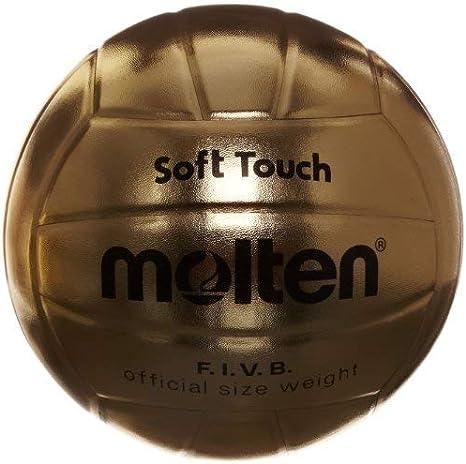 MOLTEN - Balón de voleibol (talla 5), color dorado: Amazon.es ...